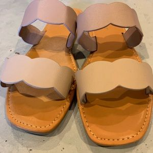 Two-Toned Flat Heel-Size 7 1/2